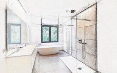 Kas geriau vonios kambaryje – vinilinės ar keramikinės plytelės?