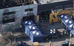 Gaisro Kalifornijos loftų pastate aukų padaugėjo iki 33