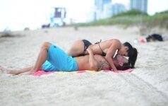 Fitneso deivę aistra užklupo paplūdimyje