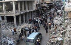Sirijoje antskrydžiai Idlibe nusinešė dešimtis gyvybių