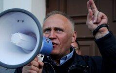 Prieš planuojamus protestus įkalintas Baltarusijos opozicijos lyderis
