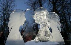 Fantastiškos pirmojo Lietuvoje ledo skulptūrų festivalio akimirkos