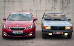 Naujas Peugeot 308 ir 1983 m. Peugeot 305