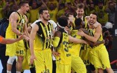 """""""Fenerbahce"""" krepšininkai pirmą kartą iškovojo Eurolygos čempionų titulą"""