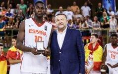 Ispanijos krepšinio ateitis – tarp vyresnių dominuojantis 14-metis bokštas