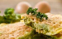 KEPK. Omletas su brokoliais