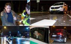 Avariją sukėlusio girto taksisto dar girtesnis keleivis: jis labai atsakingai vairavo