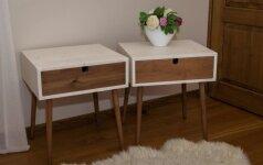 Darau pats: skandinaviško stiliaus naktiniai staleliai iš visiems prieinamų medžiagų