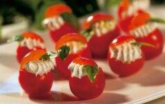 Fetos sūriu įdaryti pomidorai - per 10 minučių