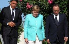 A. Merkel: ES Bratislavos susitikime mėgins nubrėžti savo ateities be Britanijos gaires