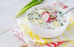 ŠALTIBARŠČIAI KITAIP: šalta ridikėlių sriuba
