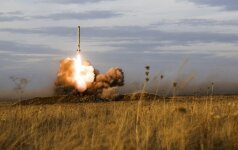 Iskander sparnuotosios raketos paleidimas