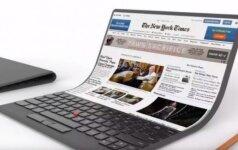 """Naujas """"Lenovo"""" kompiuteris panašus į popieriaus lapą"""