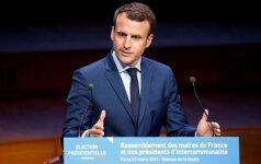 Buvęs Prancūzijos premjeras pareiškė paramą kandidatui į prezidentus E. Macronui