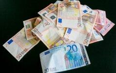 Padidinta minimali alga kai kuriems kirto per kišenę