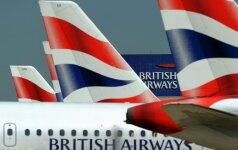 """Po savaitgalio chaoso """"British Airways"""" iš dalies atnaujino skrydžius iš Londono"""
