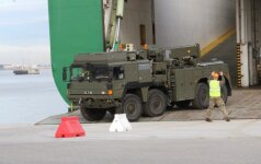 NATO military equipment shipped to Lithuania