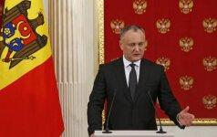 Moldovos prezidentas tikisi atšaukti ES asociacijos sutartį