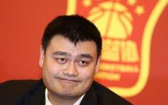 Kinijos krepšinio federacijos prezidentu tapo žmogus, aukštesnis net už A. Sabonį
