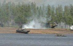 Apsišaukėliškoje Luhansko liaudies respublikoje vyko kariniai mokymai