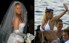 Visų laikų baisiausios garsenybių vestuvinės suknelės FOTO