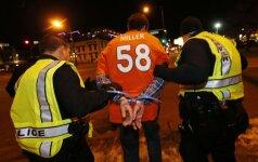 Denveryje sulaikomas Broncos fanas