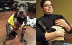 Iš automobilio išmestą šunį norėta užmigdyti: jį išgelbėjo policijos pareigūnas