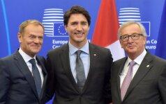 Donaldas Tuskas, Justinas Trudeau ir Jeanas Claude'as Junckeris
