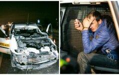 Avarija Vilniaus pakraštyje: girtas taksi vairuotojas susidūrė su traktoriumi, yra sužeistų