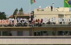 Taip švenčia Europos čempionė - Portugalijos futbolo rinktinė