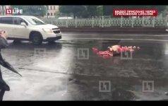 Gatvę Maskvoje užblokavo sekso žaisliukai