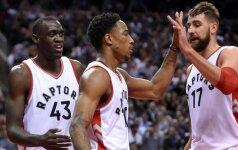 """Po """"sužvėrėjimo"""" išgirtas J. Valančiūnas kartu su D. DeRozanu pateko į NBA istoriją"""