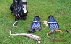 Aplinkosaugininkų laimikis: brakonierius, du unguriai ir visa nardymo įranga