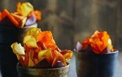 Kitoks užkandis: daržovių traškučiai