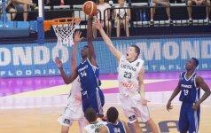 Lietuvos 17-mečiai įveikė Prancūziją ir žais pasaulio čempionato pusfinalyje