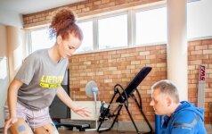 Jaunoji krepšininkė D. Belickaitė atsigauna po dviejų sunkių traumų