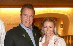 Arnold Schwarzenegger ir Heather Milligan