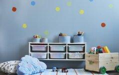 Patarimai, kad vaiko kambaryje vyrautų tvarka