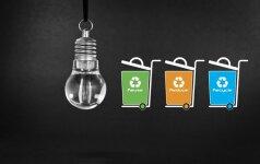 Ar priima prekybos centrai panaudotas elektros lemputes?