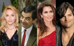Madonna, Rowanas Atkinsonas, Cindy Crawford, Ashtonas Kutcheris