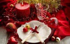 Kaip dekoruoti stalą per šventes