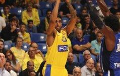 """Ambicinga Tel Avivo """"Maccabi"""" ekipa palaužė """"Baskonia"""" krepšininkus"""