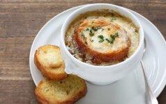 Legendinė prancūziška svogūnų sriuba
