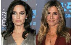 A. Jolie ir J. Aniston