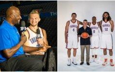"""Oklahomoje """"tėvą"""" radęs D. Sabonis NBA vilkės netradicinį marškinėlių numerį"""