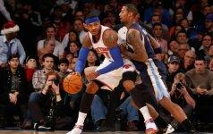 """Puikus C. Anthony žaidimas """"Knicks"""" komandos nuo eilinio pralaimėjimo neišgelbėjo"""