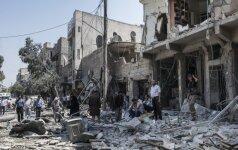 Rusija ir Kinija blokavo dar vieną paliaubų susitarimą karo nuniokotame Alepe