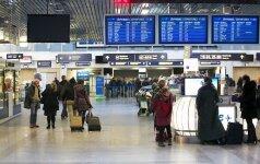 Vilniaus oro uoste valandai bus atnaujinta sienų kontrolė