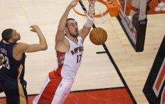 NBA: J. Valančiūnas mėgavosi dėjimais, D. Motiejūnas – taikliais tritaškiais