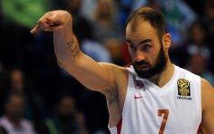 """Įspūdingas V. Spanoulio tritaškis padovanojo """"Olympiakos"""" Graikijos čempionų titulą"""